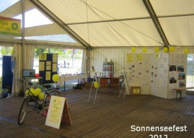 Aussteller im Festzelt – SonnenSeeFest 2012