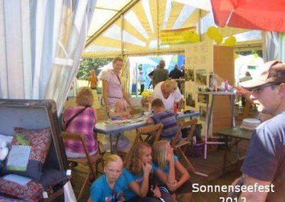 Festzelt mit Kinderaktionen – SonnenSeeFest 2012